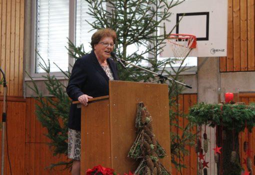 Adventsfeier Festrednerin Frau Stamm