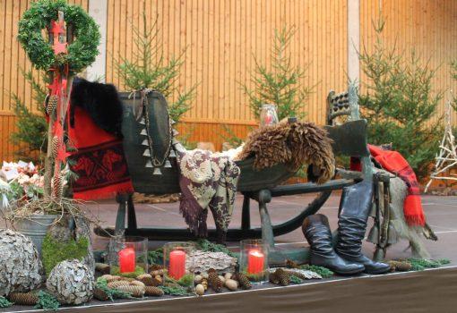 Adventsfeier Schlitten
